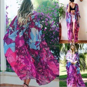 Tops - Jackie | 60s Op Art Kimono Duster